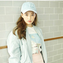candy color Macarons color suede Baseball Cap Curved Hat Ladies dad Hat Chapeau Visor Casquette Bone Fashion Hats(China)