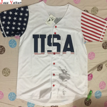 Jazz Vaiten Trump #45 USA Baseball Jersey 2016 Commemorative Edition Stitched Sewn-White Jerseys(China)