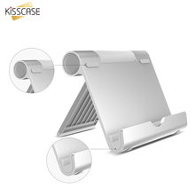 KISSCASE Luxury Aluminum Alloy Tablet PC Desktop Stand Holder Adjustable Universal All Tablets Lazy Support For iPad Air Mini(China)
