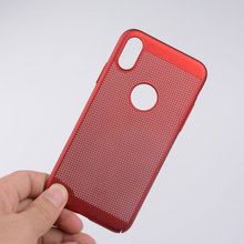 OCWAVE Breathe Freely capa funda for iphone X Case coque net Breathable Mesh Radiating Design PC material full protection cover(China)