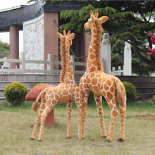 1pcs 60 Lifelike Giraffe Stuffed Plush Toy Simulation Animal King Good Quality Standing Posture Real Free Shipping Cute