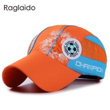 Raglaido Children Sun Hat Cap Baby Baseball Cap Kids Football Embroidered Waterproof Quick Dry Mesh Visor Hats LQJ01130(China)