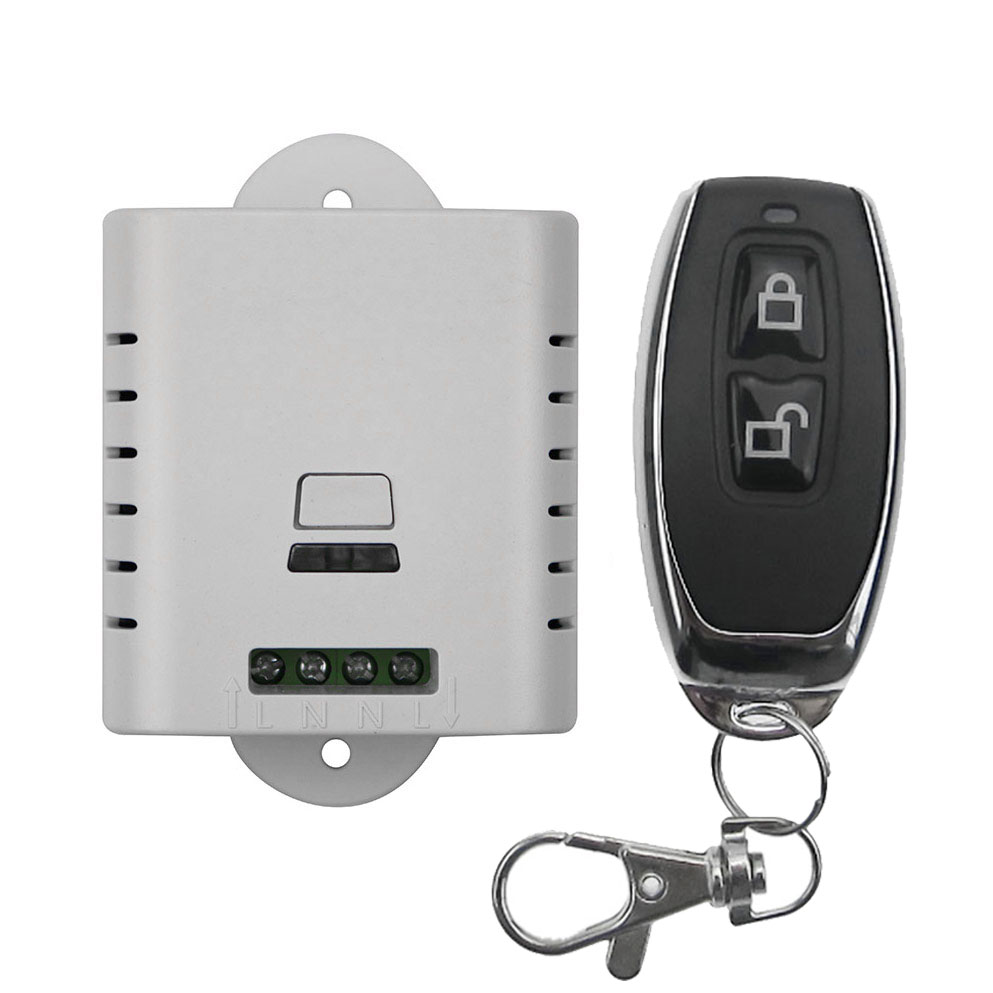 2017 new AC 85v 110v 120v 220v wireless remote control switch with manual button 1 receiver +1 (JRL-7)transmitter smart home<br><br>Aliexpress