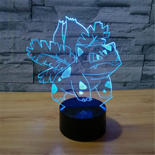Wonderful Frog with Flowers Seven-Color Gradient 3D Visual Illusion Led Sleep Light Good-looking Light Grownups Kids Toy Present