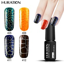 Huration 12 lucky Lasting color Cracking Gel Nails Polish UV Led Lamp Soak Off Nail Gel Semi Permanent Star Polish(China)