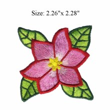 "Beautiful flower 2.26""wide embroidery patch  for tennis accessories/bridal applique/gold lace applique"