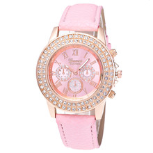 Watches Women Geneva Candy Color Male And Female Crystal Bling Watch Luxury Montre Femme Ladies wrist watch Girl Gift Pink Feida