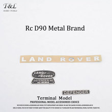 Rc Metal D90 Logo Rand Lover Rock Clawer Brand Decoration Parts Defender Upgrade Accessories