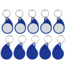 Buy New Arrival RFID IC keyfobs I3.56 MHz keychains NFC key tags ISO14443A MF Classic 1k token tag smart access control system for $3.89 in AliExpress store
