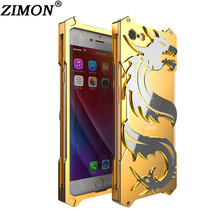 For Apple iPhone 7 Plus Cover for iPhone7 7Plus Dragon Metal Body Case High Quality Aluminum Back Cover Mobile Phone Cases