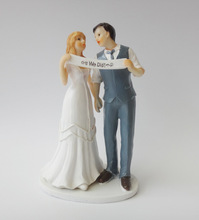 We Did Marriage Polyresin Figurine Wedding Cake Toppers Resin Decor Lover Gift(China)