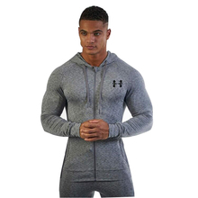 2017 doctor muscle men autumn and winter new clothing fashion and leisure trend gyms jacket casual fitness hoodies(China)