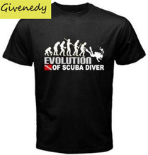 EVOLUTION OF SCUBA DIVER dive down flag Dive funny Black T-Shirt Mens 2015 New Designs Summer Style T Shirt Top Tees Euro Size