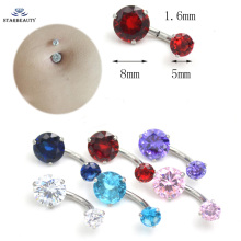 New Brand AAA Zircon Jeweled Style Belly Button Ring Body Piercing Jewelry Navel Piercing 316L Stainless steel Belly Earrings(China)