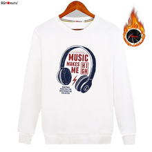 BGtomato New style earphone printing Hoodies for men Original brand good quality winter clothes Cheap sale fashion sweatshirts(China)