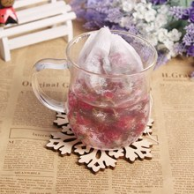 100Pcs/lot 6*8cm Tea Strainer Corn Fiber Tea Bags Biodegraded Tea Filters Infusers Quadrangle Pyramid Heat Sealing Filter Bags(China)