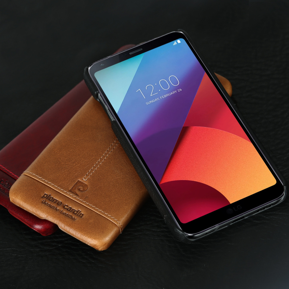 For LG G6 Case Luxury Genuine Leather Hard Slim Cover (4)