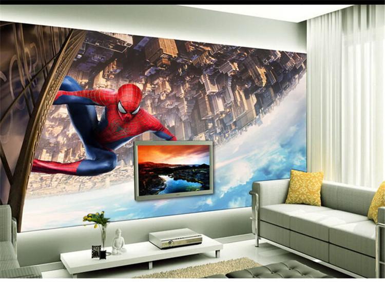HTB1Ges3q41YBuNjy1zcq6zNcXXat - Large Spideman Cartoon Murals 3d Wallpaper for Child Room
