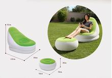 pvc flocking dual-use inflatable sofa bed lazy support sofa folding air chair, good sleep tool in afternoon