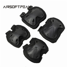 Tactical Airsoft Universal X Shape Protect Knee&Elbow Pads Set Protector Gear Sports Hunting Knees Support Bag Shooting Pads(China)