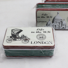 Hot Sale Small Tin Box Metal Storage Boxes ZAKKA Metal Rectangle Handmade Soap Storage Candy Boxes 11.5*6.5*4CM Organizer
