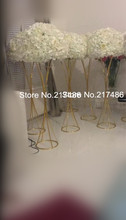 new produce mental iron chorme flower stand for table centerpieces/crystal wedding centers(China)