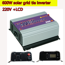 600W Grid Tie Power Inverter LCD 220V  Pure Sine Wave DC to AC Solar Power Inverter MPPT 10.8V to 30V or  22V to 60V Input  NEW