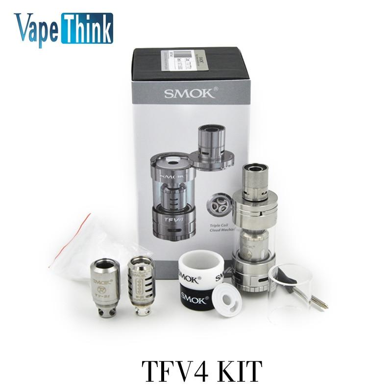 stock  5.0ml Smoktech TFV4 tank kit with 3 coils 0.15ohm 0.2ohm 0.85ohm RBD coil smok TFV4 tank tfv8 full kit <br><br>Aliexpress