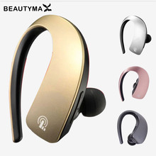 Wireless V4.1 Bluetooth headset Handsfree hook Earbuds touch sensitive Bluetooth Earphones for iPhone 6 7 samsung s8 huawei p9