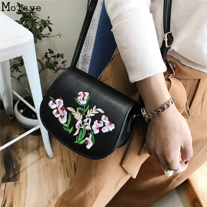 Women Bag Zipper Embroidery Handbag Flower Bag Floral Tote Ladies Evening Strap Bags Colorful Female Messenger Bags Sac D30M25