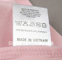 Free Shipping By Fedex WholesaleCustomize Logo Garment Label  colour Logo print satin Water Wash  Label custom Logo Care Label