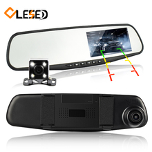 dual lens vehicle car camera rearview mirror auto dvrs cars dvr parking video recorder registrator dash cam full hd 1080p(China)