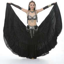 Gypsy Dance Performance Women New Belly Dance Costume Tribal Gypsy Bohemia 720 degrees Full Circle Big Skirt Dress