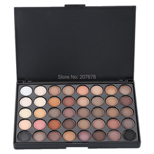 40 Colors Smoky Matte Eyeshadow Pallete Mixed Color Baking Powder Eye Shadow Palette Naked Nude Glitter Cosmetic Set(China)
