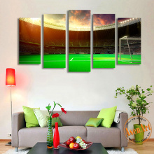 Modern 5 Piece Football Playground World Cup Canvas Painting HD Prints Painting Wall Art Picture for Living Room Home Decor
