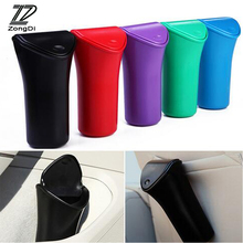 ZD Car Garbage Can Trash Dust Case Umbrella Holder Bin for Alfa Romeo 159 156 Fiat 500 Citroen C4 C5 C3 Renault Duster Megane 2(China)