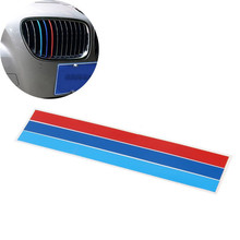 3pcs/lot S M L Front Grille Grill Vinyl Strip Sticker Decal For BMW M3 M5 E46 E60 E90