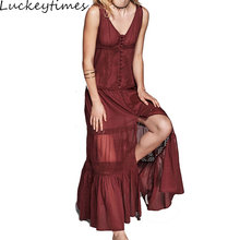 Lace Dress Europe V collar Off Shoulder Princess Sexy Long Boho Beach Dresses Elegant Popular Slim Maxi Holiday Vesitods S-XL