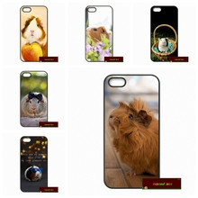 Phone Cases Cover For iPhone 4 4S 5 5S 5C SE 6 6S 7 Plus 4.7 5.5 Adorable Funny Guinea Pig Case Cover(China)