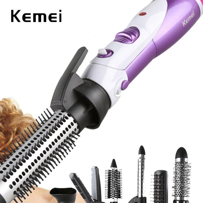 220-240V Electric Hair Dryer Curler Hair dryer Styler Hair Blow Dryer Machine Brush Comb Straightener Diffuser Styling 7 In1 <br>