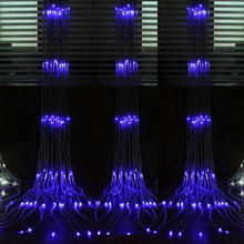 2M*2.5M 360LED water flow snowing effect curtain led waterfall string Light Christmas Xmas Wedding Party Background garden Decor(China)
