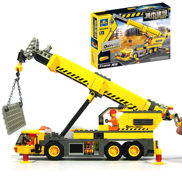 New 8045 Kazi City Construction Crane Building Blocks Sets Buildable Hobby Technic Bricks toys Compatible with Legoe<br><br>Aliexpress