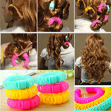 New Designer Colorful Lovely Plastic Hair Roller Rollers For Women Woman Girls Hair Styling Tools