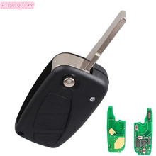 HXLIWLQLUCKY Flip car key FOB 3 Button Remote Key 434mhz pcf7936 id46 chip For Fiat Punto Ducato Stilo Panda(China)