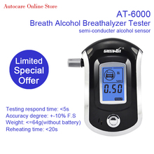 2017 Hot Promotion Professional Digital Blue LCD Display Breath Alcohol Breathalyzer Tester AT-6000
