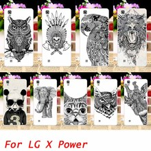 Buy Hard Phone Cases LG X Power K210 K450 K220 K220DS k220y k220 LS755 US610 F750K Black Animals Back Housings Sheath Skin Bag for $2.28 in AliExpress store