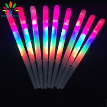 10pcs/lot Colorful LED Cotton Candy Sticks Glow Light up Floss Stick for christmas birthday party prop flashing sticks(China)