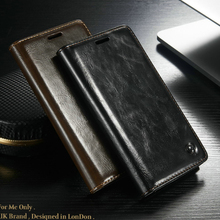 Mobile Phone Cases For LG G5 Case With Unique Metal Logo Luxury Durable Leather Wallet Magnet Flip Housing Cover For LG G5 H868(China)