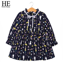 toddler girl clothing spring autunm black kids dresses for girls wedding long sleeve print princess dress kids clothes ball gown(China)