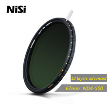 Nisi 67mm Nd4 500 Nd4-500 Neutral Density Filter Ultra Thin Adjustable Reduce Light Filter Nd Gray Filters Free Shipping